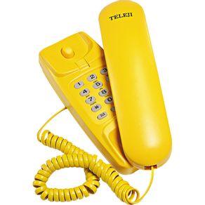 Telefone Gôndola com Bloqueador Colorido KXT3026X Teleji Amarelo