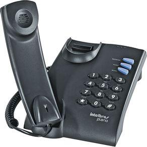 Telefone Pleno Intelbras Preto