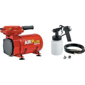 Compressor de Ar 250W com Pressão Máxima de 40Lbs e Pistola de Pintura Jet Air Plus Schulz Bivolt