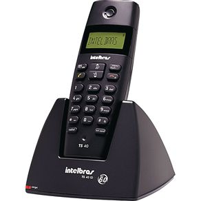 Telefone sem Fio com Identificador Dect 1.9GHz TS 40ID Intelbras - Preto