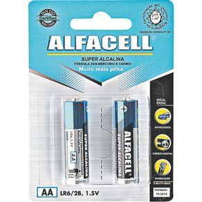 Pilha Pequena Alcalina com 2 Unidades LR62B Alfacell
