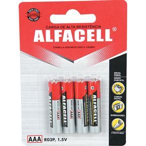 Pilha Palito com 4 Unidades R03P4B Alfacell