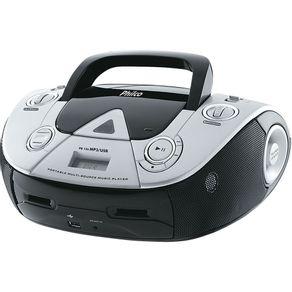 Rádio com CD, MP3 Player, FM, Potência 4W RMS, Entradas USB e Auxiliar Philco PB126 Preto