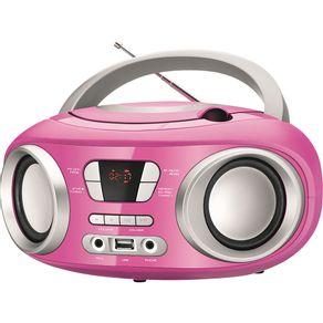 Rádio com CD, MP3 Player, FM, Potência 6W RMS, Entradas USB e Auxiliar Mondial Up BX-15 Rosa