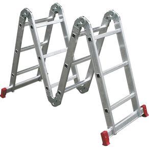 escada articulada botafogo alumínio 4x3