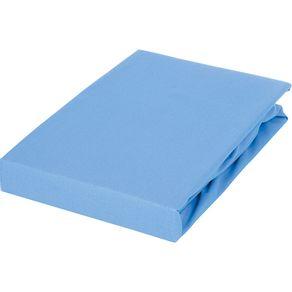 Lençol Solteiro com Elástico 100% Algodão Royal Santista Azul