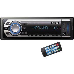 Som Automotivo com MP3 Player, Rádio FM, Entradas USB, SD e Auxiliar Naveg NVS-3066