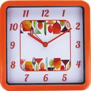 Relógio 23cm Quadrado Médio Cazza Jantar