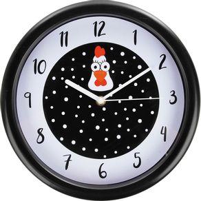 Relógio 26cm Redondo Grande Cazza Galinha
