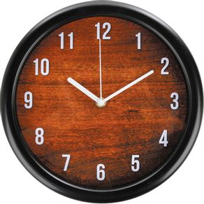 Relógio 26cm Redondo Grande Cazza Madeira