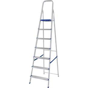 Escada de 7 degraus alumínio mor
