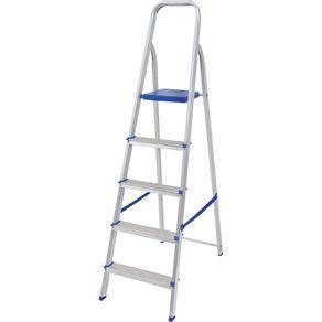 Escada de alumínio mor 5 degraus