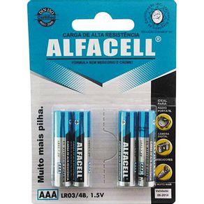 Pilha Palito Alcalina com 4 Unidades 6927 Alfacell