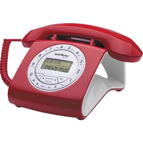 Telefone com Identificador e Viva Voz Intelbras TC8312 - Vermelho