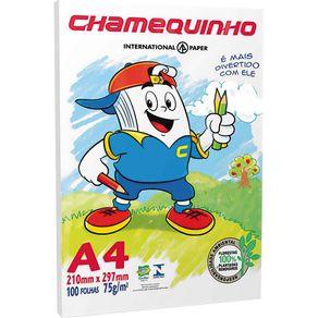 Papel Ofício A4 100 Folhas Chamequinho Chamex