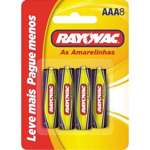 Pilha Palito com 8 Unidades Amarelinhas Rayovac Leve + Pague -