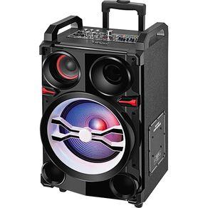 Caixa Amplificada 300WRMS MP3 Bluetooth Controle Remoto Microfone Mondial Connect CM-06