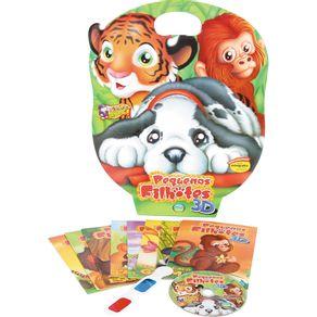 Kit-8Livros-Inf-Oculos-3D-CD-Pq-Filhote