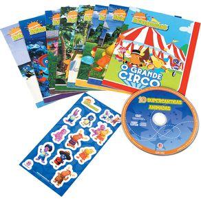 Kit 8 Livros Infantis+Cartela de Adesivos Backyardigans