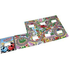 Livro Infantil Super Corrida Grand Prix + Pista Dobrável