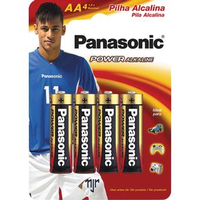 Pilha Palito Alcalina com 4 Unidades Power Alkaline Panasonic