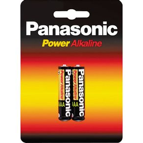 Pilha Pequena Alcalina com 2 Unidades Power Alkaline Panasonic