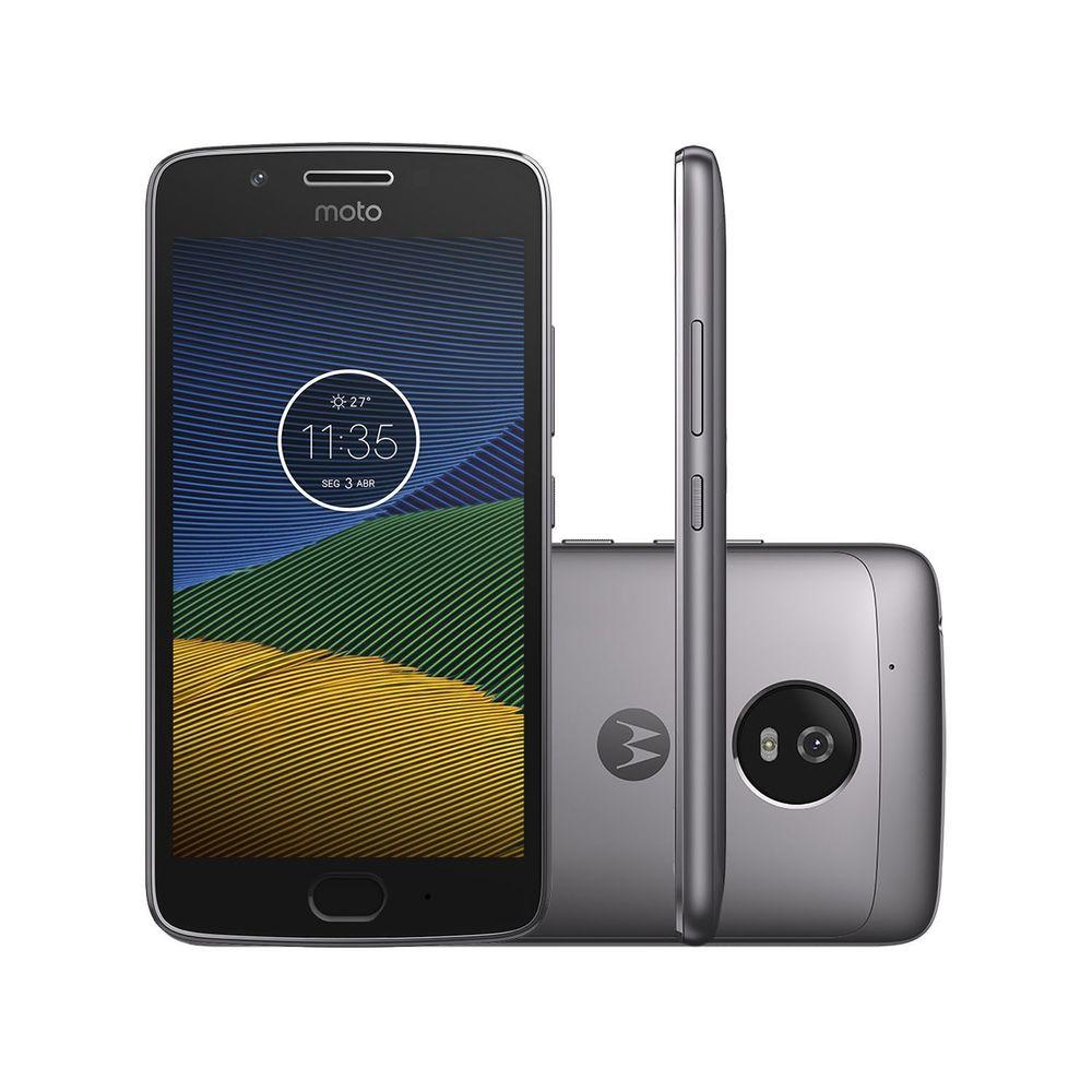 Celular Smartphone Motorola Moto G5 Xt1672 32gb Cinza - Dual Chip
