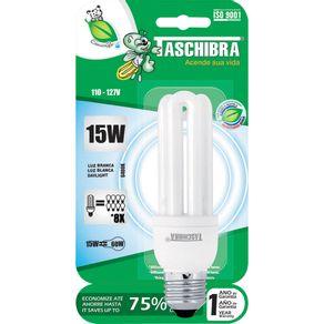 Lâmpada Eletrônica 15W Taschibra 3U Compacta Branca 220V