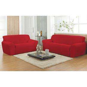 Capa para Sofá 2 Lugares Canelada Arte & Cazza Vermelha