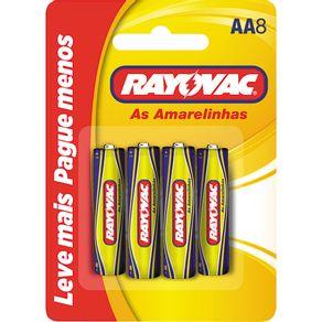 Pilha Pequena com 8 Unidades Amarelinhas Rayovac Leve + Pague -