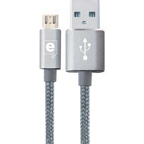 Cabo Micro USB 1.2m Easy Mobile Premium Prata