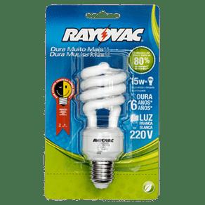 Lâmpada Espiral 15W Rayovac Branca 127V