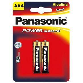 Pilha Palito Alcalina com 2 Unidades Power Alkaline Panasonic