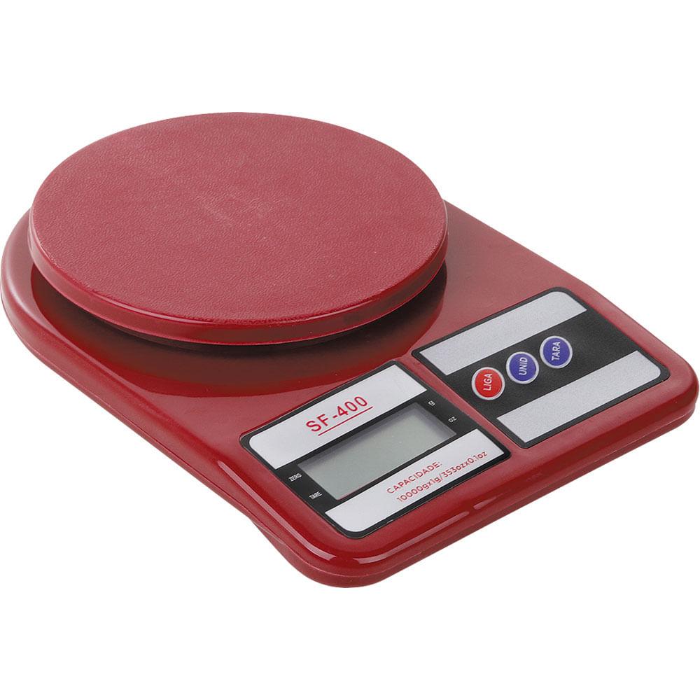 Balan A De Cozinha 10kg Digital Casa Do Chef Marrom Vermelha  ~ Balança Para Cozinha Digital