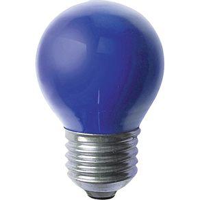 Lâmpada Incandescente 15W Bola Taschibra 127V Azul