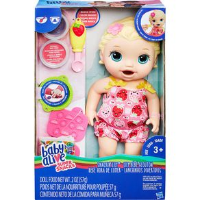 Boneca Baby Alive Lanchinhos Divertidos C2697 Hasbro Loira