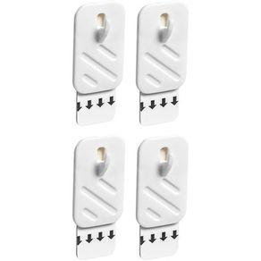 Conjunto 4 Ganchos para Quadro P 31111 Aplik Ordene Branco