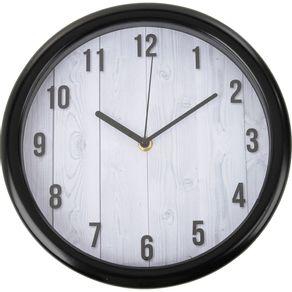 Relógio 26cm Redondo Grande Cazza Madeira Branca
