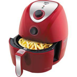 Comidas saborosas e saudáveis. Esta fritadeira elétrica Sem Óleo Philco Air Fry PH3,2L Vermelha é o que faltava em sua c...