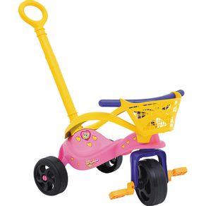 Triciclo com Empurrador. Proteção e Cestinha Fofinha 0749.7 Xalingo