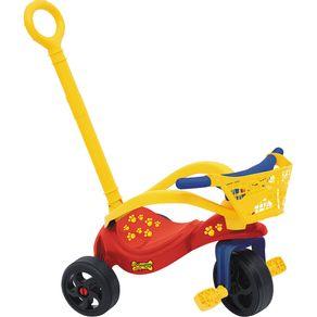 Triciclo com Empurrador. Proteção e Cestinha Cachorrinho 0749.6 Xalingo