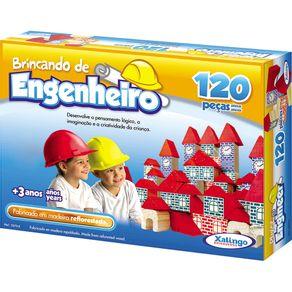 Blocos de Montar 120 Peças Brincando de Engenheiro 5279.8 Xalingo