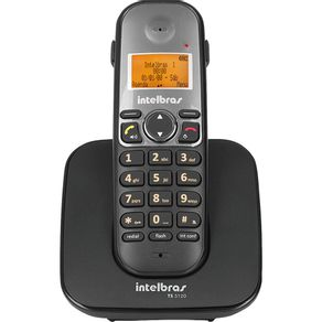 Telefone sem Fio com Identificador e Viva Voz TS5120 Intelbras - Preto
