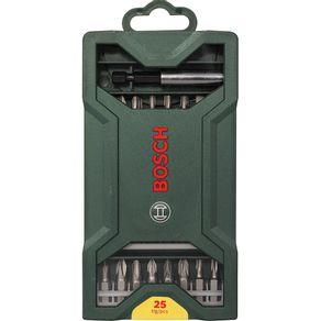 Jogo Ponta Montada 25 Peças Mini X-line Bosch