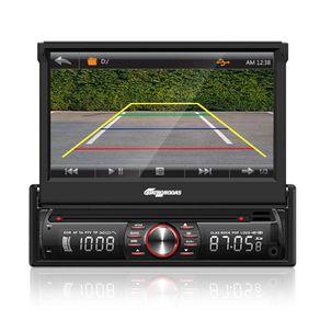 """Som Automotivo Quatro Rodas com DVD. Tela 7"""". Bluetooth. MP3. FM. Entrada USB. SD e Auxiliar MTC6618"""