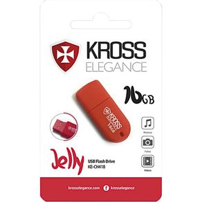 Pen Drive 16GB Kross Jelly Vermelho