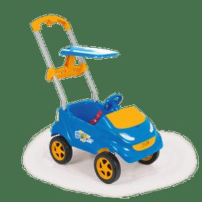 Carro de Empurrar Baby Car 4000 Xplast Azul/Laranja