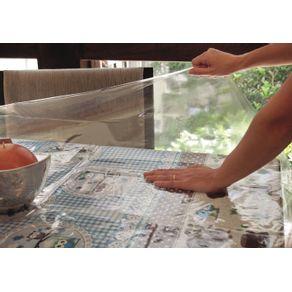 Protetor de Mesa 140x140cm Plástica Vida Pratika Transparente