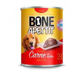 Lata Ração Patê Atacapet Bone Apettit Adulto 280g Carne