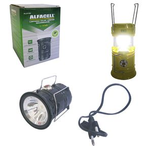 Lanterna Lampião Led Recarregável ALL50080 Alfacell Sortida